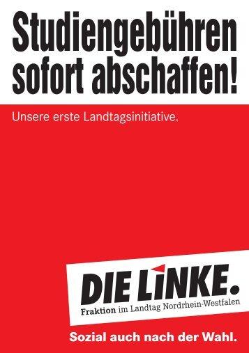 Unsere erste Landtagsinitiative. Sozial auch nach ... - Die Linke NRW