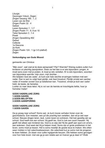 1, 2 Lezen van de Wet Zingen Psalm 32 : 4 ... - Gkvemmeloord.nl