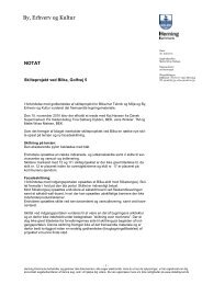 Notat vedr. skilteprojekt ved Bilka, Golfvej 5 - Mette Wraa Nielsen