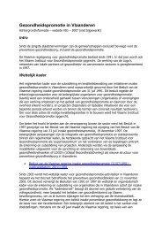 Gezondheidspromotie in Vlaanderen - Vlaams Instituut voor ...
