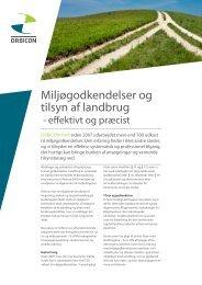 Miljøgodkendelser og tilsyn af landbrug - Orbicon