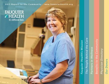 Community Benefit Report - Fauquier Hospital