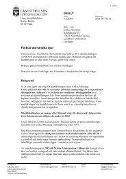 Läs beslutet - Länsstyrelsen i Stockholms län