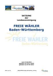 FREIE WÄHLER Baden-Württemberg