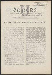 OPNIEUW: DE ADVERTENTIECHEF