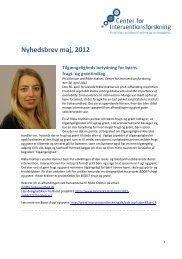 Hent nyhedsbrevet som pdf - Center for Interventionsforskning