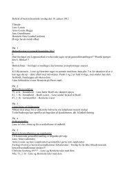 Referat af bestyrelsesmøde onsdag den 18. januar 2012