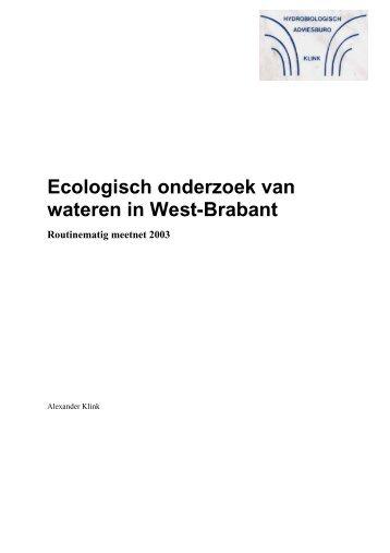 Ecologisch onderzoek van wateren in West-Brabant - Dit is ...