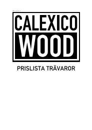 Prislista: Calexico Wood katalog [ PDF ]