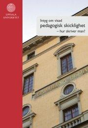Intyg om visad pedagogisk skicklighet - Uppsala universitet