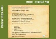 Sonderveranstaltung 2013 im Januar / Februar