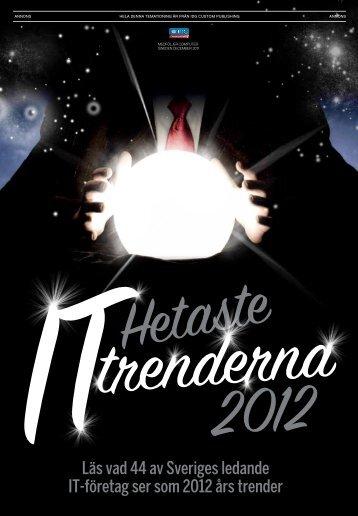 Läs vad 44 av Sveriges ledande IT-företag ser som 2012 ... - IDG.se