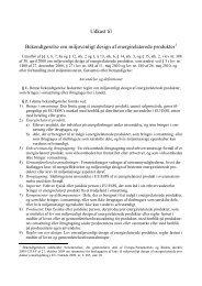 Udkast til Bekendtgørelse om miljøvenligt design af ...