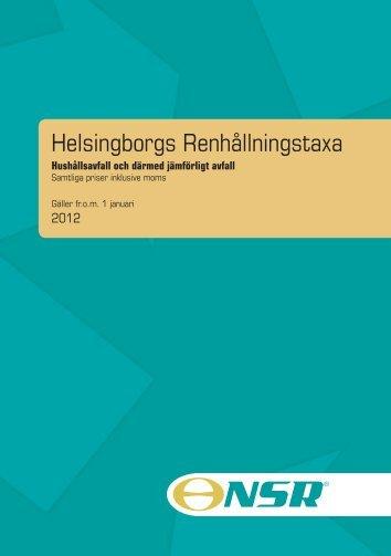 Helsingborgs Renhållningstaxa - Helsingborgs stad