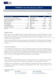 SYPHAX : Note d'Introduction en Bourse - FINACorp