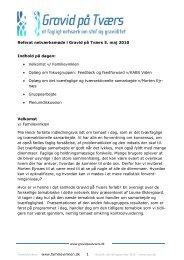 1 Referat netværksmøde i Gravid på Tværs 5. maj 2010 Indhold på ...