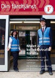 April 2011 (pdf) - Färdtjänsten - Stockholms läns landsting