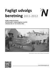 Fagligt udvalgs beretning 2011-2012 - Folkebevægelsen mod EU