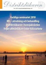 Fackliga seminariet 2010 IBS – utredning och behandling ...