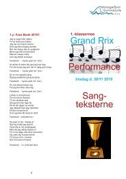 Grand Prix Performance Sang- teksterne