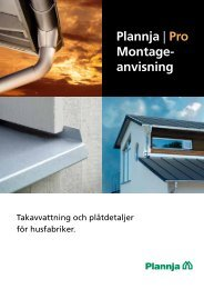 Monteringsanvisning Takavvattning Plåtdetaljer för ... - Plannja