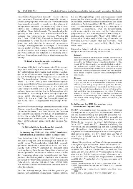 UVR.1 Umsatzsteuer- und Verkehrsteuer-Recht - Stollfuß Medien