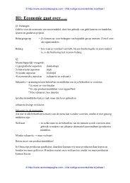 Samenvatting hoofdstuk 1 - Economiepagina.com