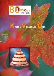 Kopie Kookboek - KVO
