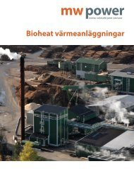 Bioheat värmeanläggningar - MW Power
