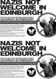 nazis not welcome in edinburgh nazis not welcome in edinburgh