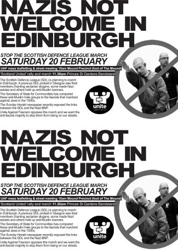 nazis not welcome in edinburgh nazis not welcome in edinburgh