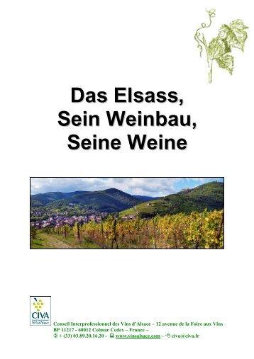 Das Elsass, Sein Weinbau, Seine Weine - Les Vins d'Alsace