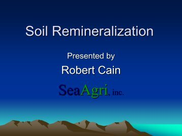 Soil Remineralization