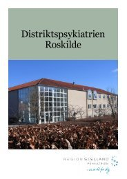 Velkomstfolder Distriktspsykiatrien Roskilde - Region Sjælland