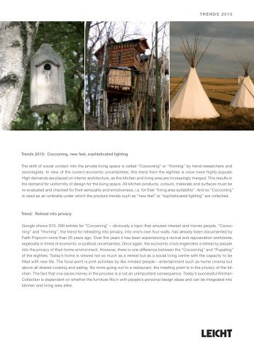 090803 Presseinformation Kollektion 2010.indd - Kitchen Design