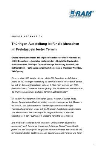 Thüringen-Ausstellung ist für die Menschen im ... - Y-PR Darmstadt