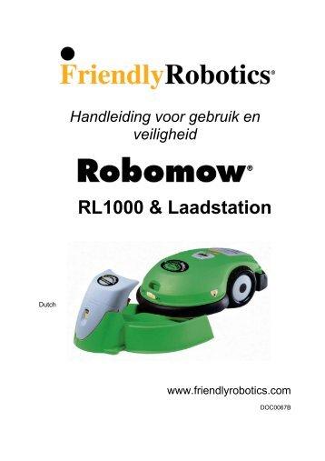 Handleiding Robomow RL-modellen (PDF 3Mb) - GRASROBOTS.be