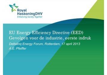 EU Energy Efficiency Directive (EED) Gevolgen voor de industrie ...