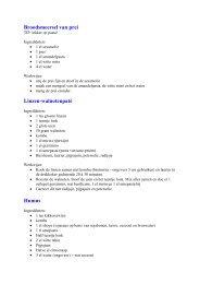 Recepten nieuwjaarsreceptie 2013 - Velt Brasschaat