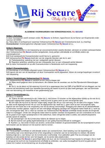 algemene voorwaarden - Rijschool Rij Secure