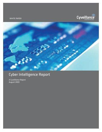 Cyber Intelligence Report - Cyveillance