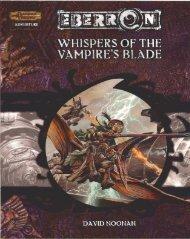 D&D 3.5 - Eberron - Whispers of the Vampire's Blade.pdf - Kaos ...