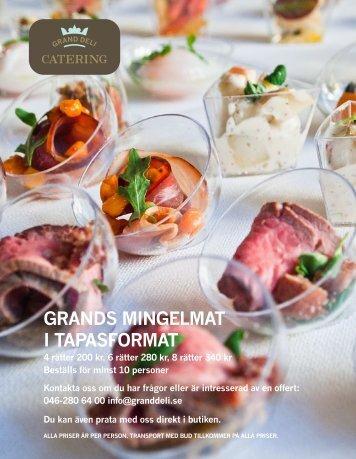Ny cateringmeny 20 - Grand Deli