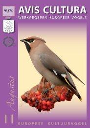 AVIS CULTURA - Werkgroepen Europese Vogels