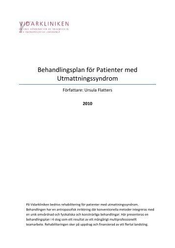 Behandlingsplan för Patienter med ... - Vidarkliniken