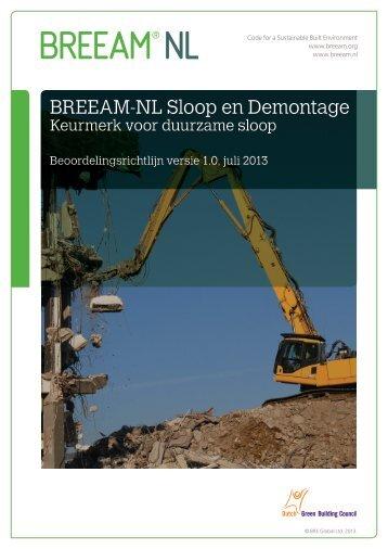 BREEAM-NL Sloop en Demontage 2013 v1.0