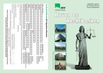 Hoven en Rechtbanken - ACV Openbare Diensten