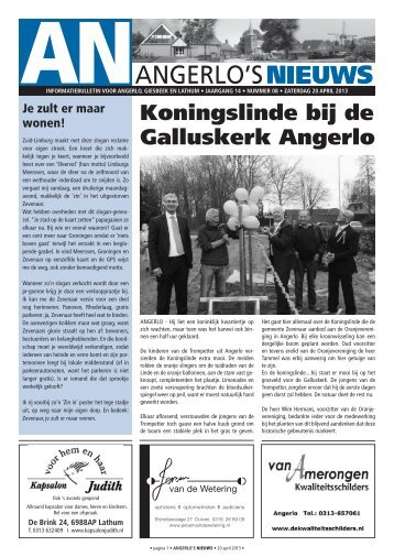 08 - 20 april '13 - Angerlo's Nieuws