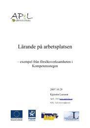 Lärande på arbetsplatsen - APeL FoU