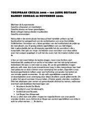 toespraak cecilia 2008 – 160 jarig bestaan banket ... - Dlbzele.be